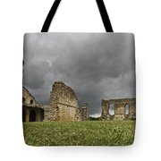 Storm Over Ruin Tote Bag