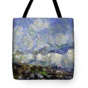 Storm Over Shore Tote Bag