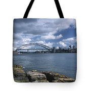 Storm Over Sydney Harbor Tote Bag