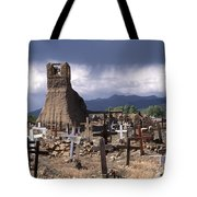 Storm Over Taos Graveyard Tote Bag