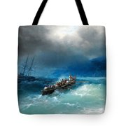 Storm Over The Black Sea Tote Bag