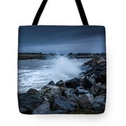 Storm Over The Jetty 1 Tote Bag