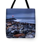 Storm Over The Jetty 2 Tote Bag