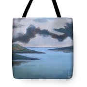 Storm Over The Lake Tote Bag