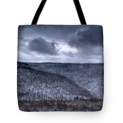 Storm Over The Mesa Tote Bag