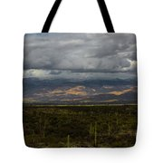 Storm Over The Mountains Of Arizona Tote Bag