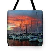 Storm Over The Newport Harbor Tote Bag