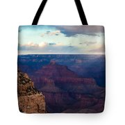 Storm Passes The Grand Canyon Tote Bag