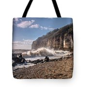 Storm Tide Cliffs End Tote Bag