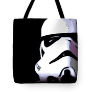 Storm Trooper In Black And White Tote Bag