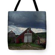 Storm Upon Maple Grove Farm Tote Bag