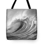 Storm Wave - Bw Tote Bag