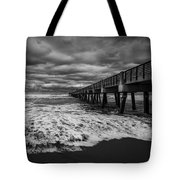 Storm Waves Breaking On The Shore Tote Bag