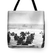 Storming The Beach On D-day  Tote Bag