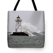 Storming The Wall Tote Bag