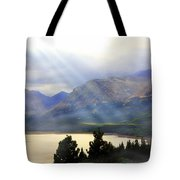 Storms A Coming-lower Two Medicine Lake Tote Bag