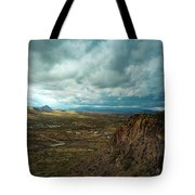 Storms And Cliffs Tote Bag
