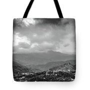 Storms In Contrast Tote Bag