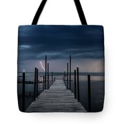 Storms On The Dock Tote Bag