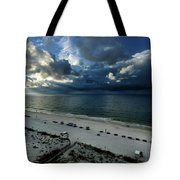 Storms Over The Gulf Of Mexico Tote Bag