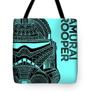 Stormtrooper Helmet - Blue - Star Wars Art Tote Bag