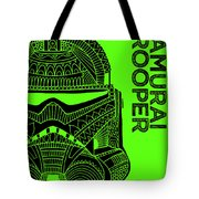 Stormtrooper Helmet - Green - Star Wars Art Tote Bag