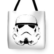 Stormtrooper Helmet Star Wars Tee Black Ink Tote Bag