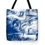 Stormy Abstract Tote Bag