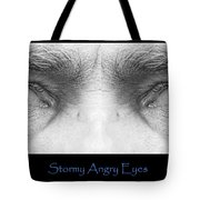 Stormy Angry Eyes Poster Print Tote Bag