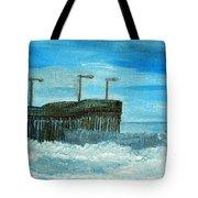 Stormy At Morro Bay Tote Bag