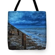 Stormy Backyard  Tote Bag
