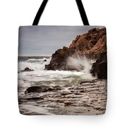 Stormy Beach Waves Tote Bag