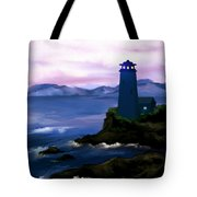 Stormy Blue Night Tote Bag