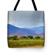 Stormy California Mountains Tote Bag