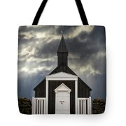 Stormy Day At The Black Church Tote Bag