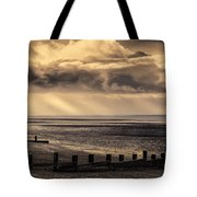 Stormy English Coastal Seascape Tote Bag