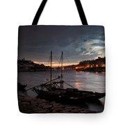 Stormy Evening Sky Above Porto And Gaia Tote Bag