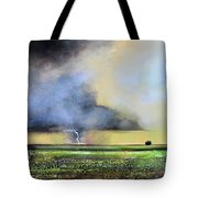 Stormy Field Tote Bag
