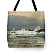 Stormy Fishing Tote Bag