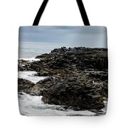 Stormy Giant's Causeway Tote Bag
