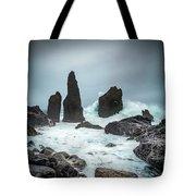 Stormy Iclandic Seas Tote Bag