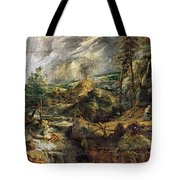Stormy Landscape -  1625 Peter Paul Rubens Tote Bag