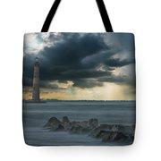 Stormy Morris Island Tote Bag