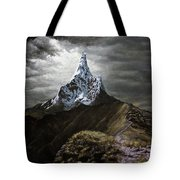 Stormy Mountain Tote Bag