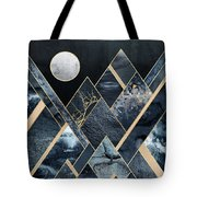 Stormy Mountains Tote Bag by Elisabeth Fredriksson