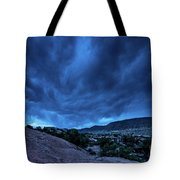 Stormy Night Sky Arches National Park - Utah Tote Bag