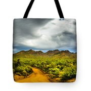 Stormy Road Home Tote Bag