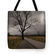 Stormy Roads Tote Bag