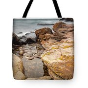 Stormy Rock Beach Tote Bag
