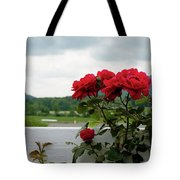 Stormy Roses Tote Bag by Valeria Donaldson